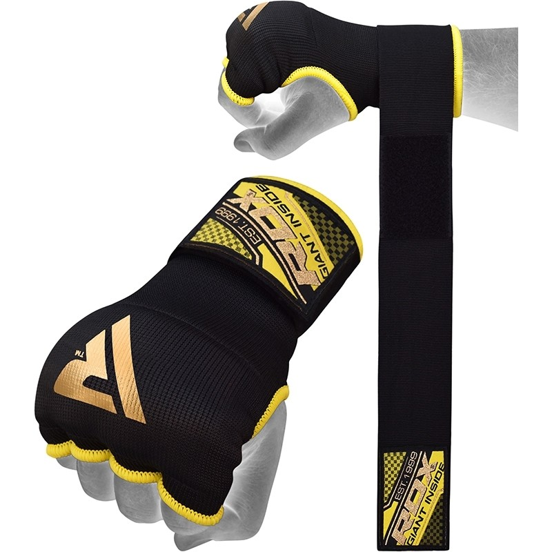 Гелевые бинты RDX GEL INNER GLOVES STRAP желтые