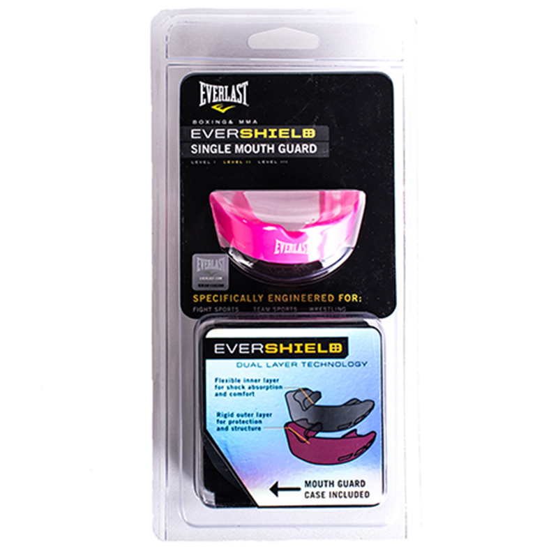 Капа Everlast EVERSHIELD SINGLE MOUTHGUARD розовая