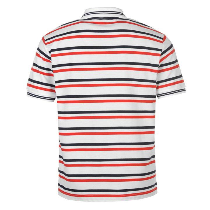 Поло Lonsdale Yarn Dye Stripe Polo Shirt Mens белое