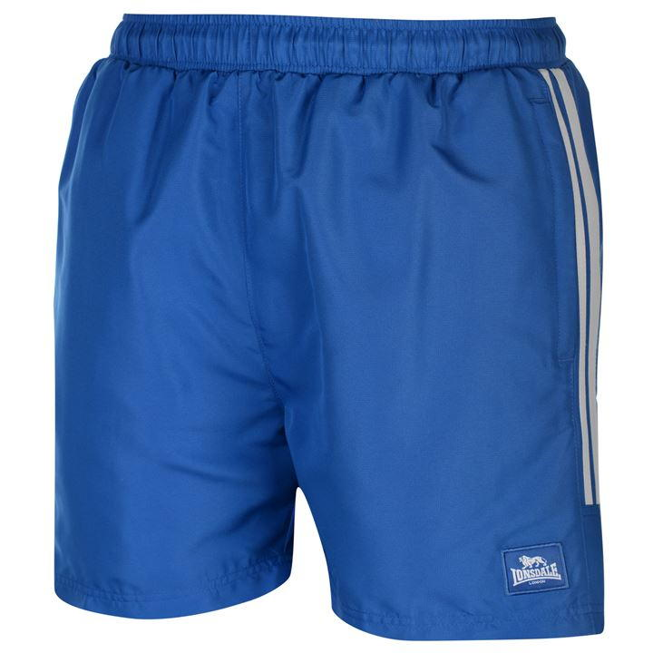 Шорты Lonsdale Two Stripe Woven Shorts Mens голубые