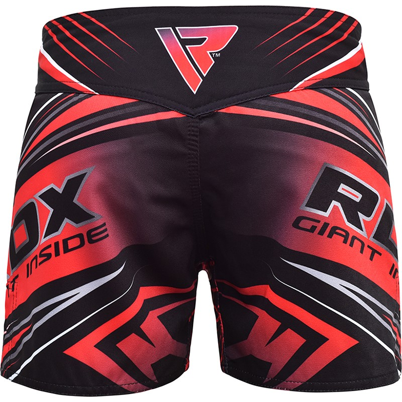 Шорты RDX R8 RED MMA SHORTS красные