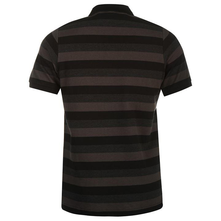 Поло Everlast Stripe Polo Shirt Mens черное