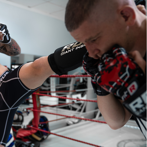 Шингарды RDX F2 Black Leather MMA Fight Gloves