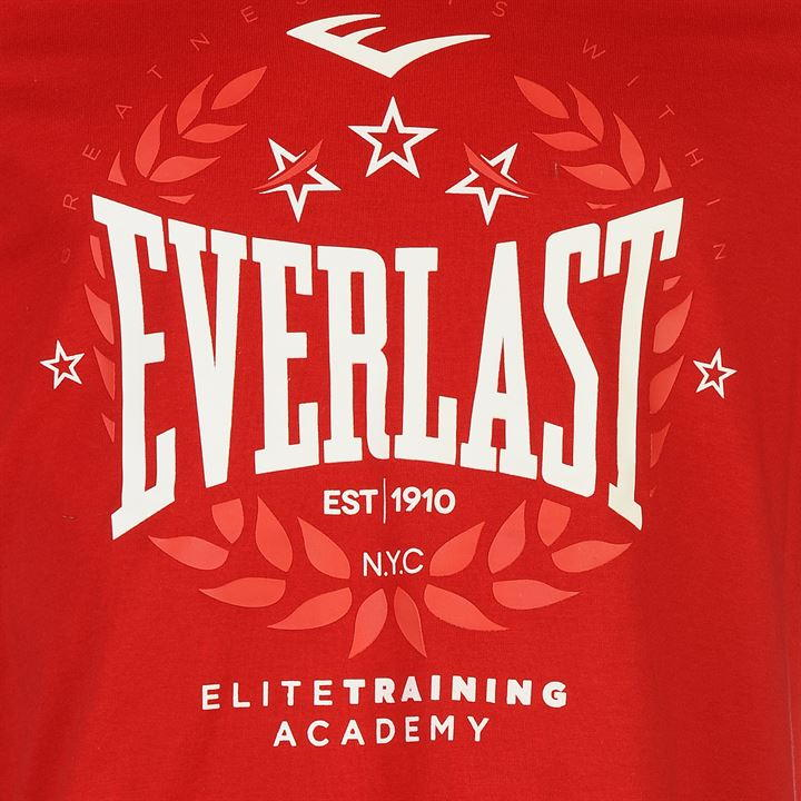 Футболка Everlast Logo T Shirt Mens красная