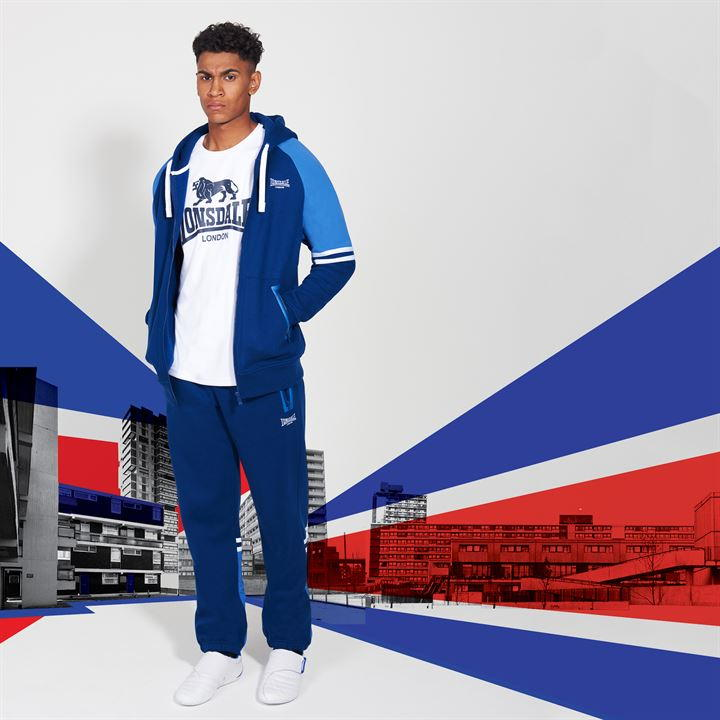 Штаны Lonsdale Heavy Closed Hem Jogging Bottoms Mens Синие