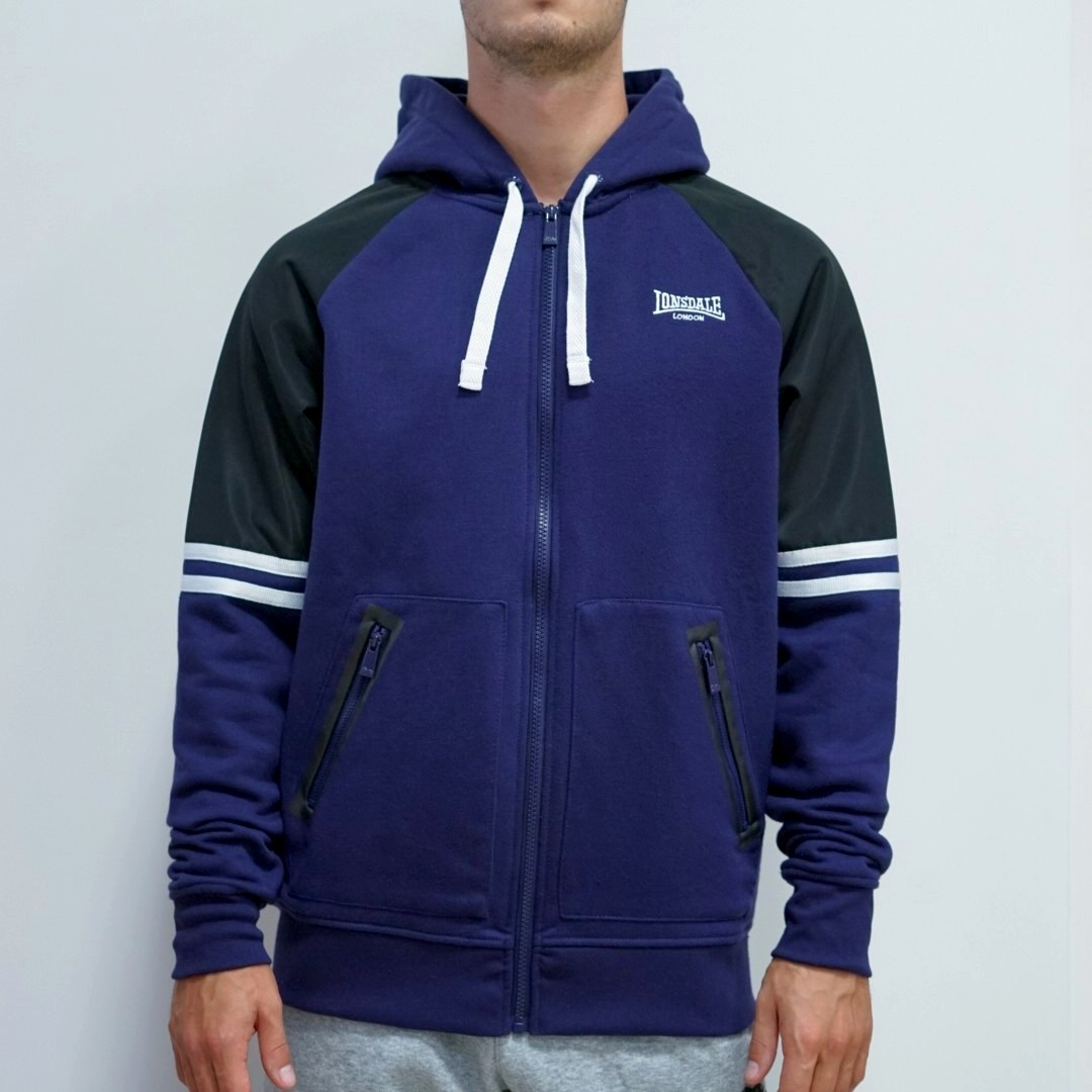 Толстовка Lonsdale Heavy Zipped Hoody Mens синяя